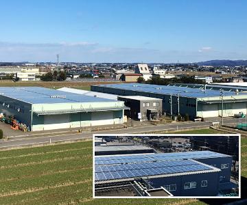 第一ビニール(株)様 北部工場 メガソーラー発電所 イメージ