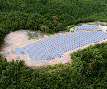 富士見 第一 メガソーラー発電所 イメージ