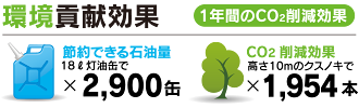 富士見 第六 メガソーラー発電所 環境貢献効果