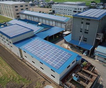 本社倉庫 ソーラー発電所 イメージ