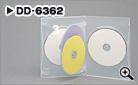 多数枚収納(4枚収納タイプ)DVDケース(半透明)【DD-6362】